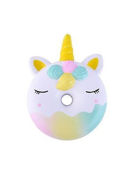 """Anboor 4.5"""" Squishies Unicorn Donut Kawaii Soft Slow Rising Scented Doughnut Squishies Stress Relief Kid Toys by Anboor"""