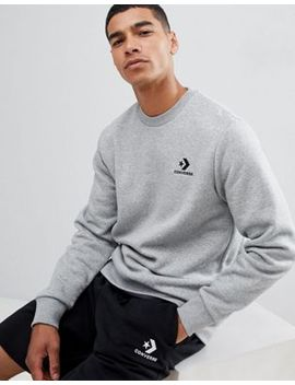 Converse Logo Sweat In Grey 10008816 A03 by Converse