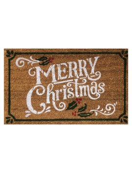 The Holiday Aisle Merry Christmas Coir Doormat & Reviews by The Holiday Aisle