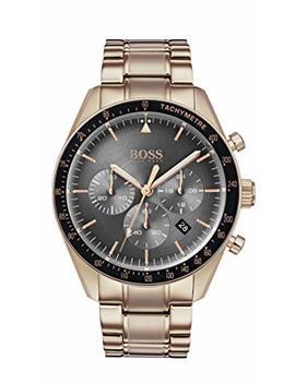 Hugo Boss Watch Mens Chronograph Quartz Rose Gold Strap 1513632 by Hugo Boss