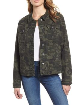 Ella Camo Denim Boyfriend Jacket by Sts Blue