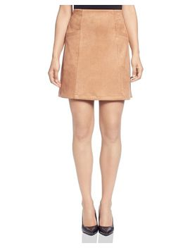 Faux Suede Mini Skirt by T Tahari