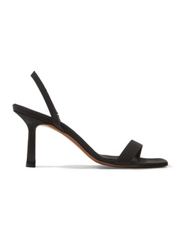 Tulip Faille Slingback Sandals by Neous