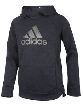 Big Girls Push It Logo Print Hoodie by Adidas