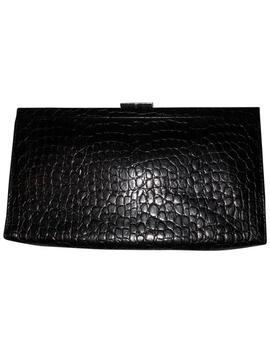 Black Leather Clutch by Banana Republic