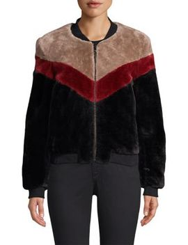 Vesna Faux Fur Bomber Jacket by Joie
