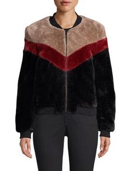Vesna Faux Fur Bomber Jacket by Joie