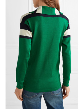 Embroidered Striped Wool, Silk And Cashmere Blend Sweater by Gucci