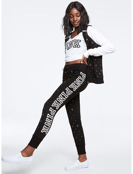 New! Rhinestone Bling Skinny Jogger by Victoria's Secret