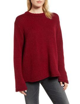 Wool Alpaca Blend Crewneck Sweater by Velvet By Graham & Spencer