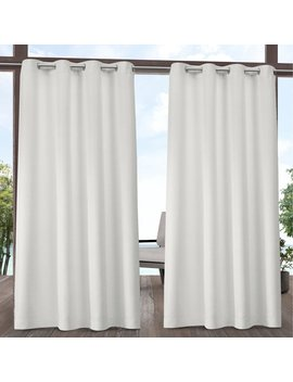 Beachcrest Home Denton Solid Room Darkening Outdoor Grommet Curtain Panels & Reviews by Beachcrest Home