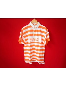 Vintage Coca Cola Rugby Polo Mens Shirt by Etsy