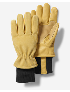 Insulated Leather Work Gloves by Eddie Bauer