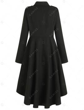 Zipper High Low Coat by Gamiss