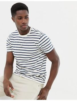 J.Crew Mercantile Slim Fit Deck Striped T Shirt In White by T Shirt