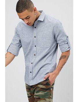 Brushed Twill Shirt by Forever 21