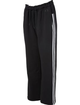 Adidas Women's Cotton Fleece 3 Stripes Open Hem Pants by Adidas