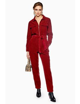 Rust Corduroy Boilersuit by Topshop