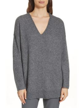 Elongated Cashmere Blend Sweater by Eileen Fisher