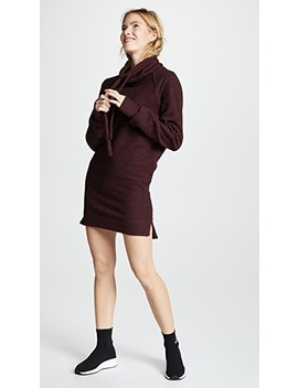 Maddux Jersey Funnel Neck Dress by Twenty Tees