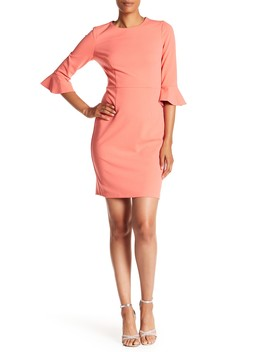 Crepe Bell Sleeve Dress by Donna Morgan