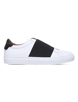 Elastic Strap Low Top Leather Trainers by Givenchy