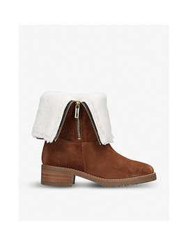 Snug Fold Down Suede Ankle Boots by Carvela