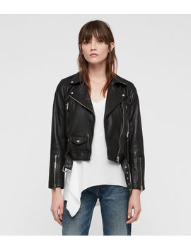 Juno Leather Biker Jacket by Allsaints