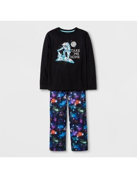 Boys' 2pc Shuttle Graphic Long Sleeve Pajama Set   Cat & Jack™ Black by Cat & Jack
