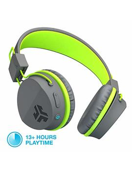 J Lab Audio Neon Bluetooth Folding On Ear Headphones | Wireless Headphones | 13 Hour Bluetooth Playtime | Noise Isolation | 40mm Neodymium Drivers | C3 Sound (Crystal Clear Clarity) | Graphite / Green by Jlab
