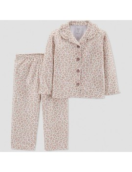 Toddler Girls' Leopard Print Coat Pajama Set   Just One You® Made By Carter's Brown by Just One You Made By Carter's