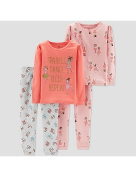 Toddler Girls' 4pc Ballerina Pajama Set   Just One You® Made By Carter's Pink by Just One You Made By Carter's