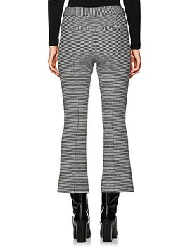 Checked Cotton Flannel Crop Flared Pants by Derek Lam 10 Crosby