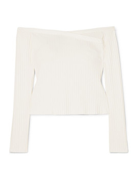 Off The Shoulder Ribbed Stretch Jersey Top by The Range