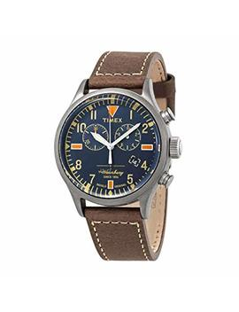 Timex Waterbury Traditional Blue Dial Men's Chronograph Watch Txw2 P84100 by Timex