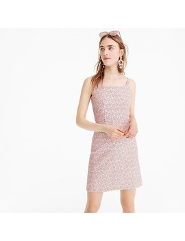 Petite Strappy Mini Dress In Parasol Jacquard by J.Crew