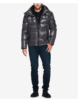 Men's Quilted Down Jacket With Hood by S13