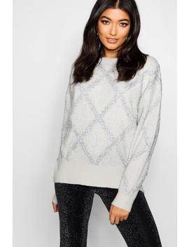 Premium Embellished Tinsel Jumper by Boohoo