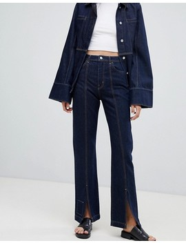 Weekday Limited Collection Seamed Denim Coach Jacket & Mom Jeans Co Ord by Asos
