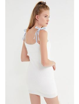 Uo Faux Fur Tie Shoulder Mini Dress by Urban Outfitters