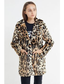 Apparis Margot Leopard Print Faux Fur Coat by Apparis