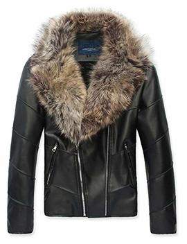 ouye-mens-winter-fur-collar-faux-leather-short-jacket by ouye
