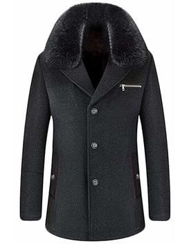gaga-mens-winter-fur-collar-wool-pea-coat-suit by gaga-men-clothes