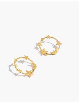 Star And Moon Hoop Earrings by Madewell