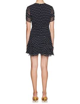 Marceau Polka Dot Silk Dress by Sir The Label