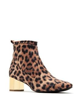Daina Leopard Print Satin Booties by Katy Perry