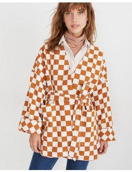 Checkerboard Kimono Wrap Jacket by Madewell