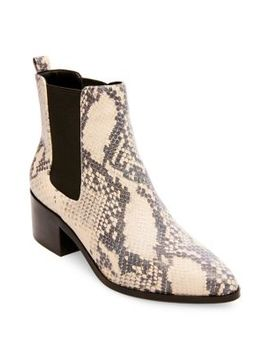 Cayla Snake Printed Booties by Design Lab