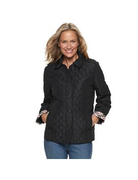 Women's Croft & Barrow® Quilted Button Front Jacket by Croft & Barrow