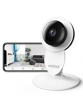 Vodool 1080p Home Camera, Indoor Ip Surveillance Home Security Camera System Night Vision, Wireless Wi Fi Remote Monitor I Os & Android App, Clear Two Way Audio, Motion Detection Alert (White) by Vodool